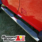 "Rugged Ridge™ JK Wrangler 4"" Oval Tube Side Steps"