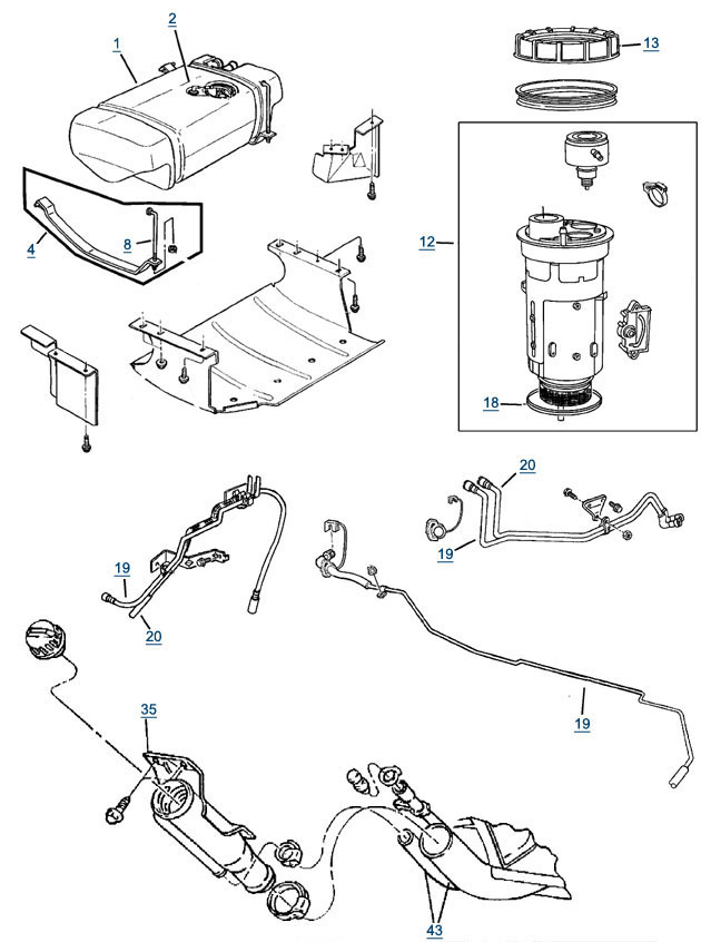 1996 Jeep Cherokee Fuel Tank Diagram