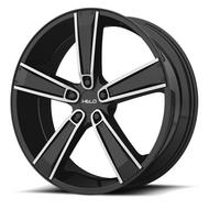 Helo HE899 Satin Black Machined with Gloss Black and Chrome Inserts Wheels