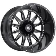 LRG Rims Sandman 103 Satin Black Milled Alloy Wheels