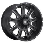 LRG Rims Access 105 Satin Black / Milled Alloy Wheels