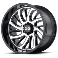 KMC XD Series XD826 Surge Gloss Black W Machined Face Wheels