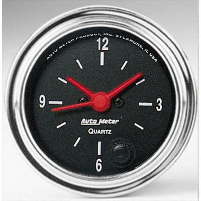 Auto Meter Traditional Chrome Clock