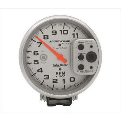 Auto Meter Sport-Comp Silver Playback Tachometer