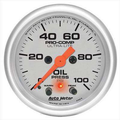 Auto Meter Ultra-Lite Electric Oil Pressure Gauge