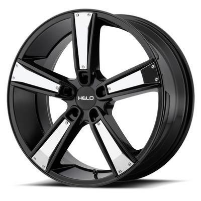 Helo HE899 Satin Black with Gloss Black and Chrome Inserts Wheels