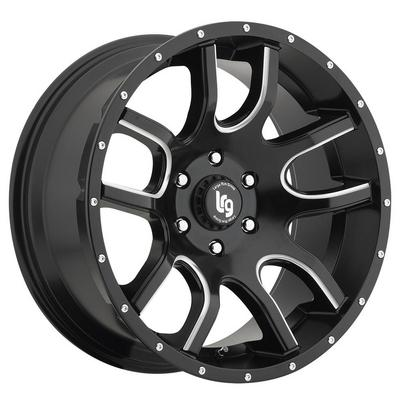 LRG Rims Two Time 105 Satin Black/Milled Wheels