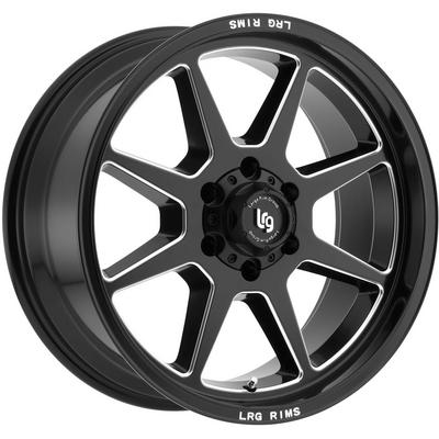 LRG Rims Blades Series 115 Satin Black Milled Alloy Wheels