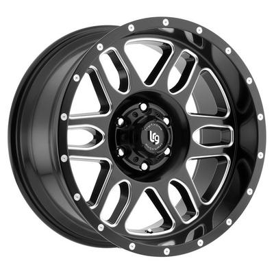 LRG Rims Squadron 116 Satin Black w/ Machined Accents Alloy Wheels