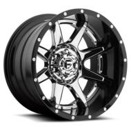 MHT Fuel Offroad Rampage D237 PVD Chrome Center Gloss Black Lip Wheels