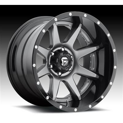 MHT Fuel Offroad Rampage D238 Anthracite Center, Gloss Black Lip Wheels