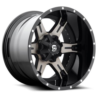 MHT Fuel Offroad Driller D257 Black & Machined with Dark Tint Wheels