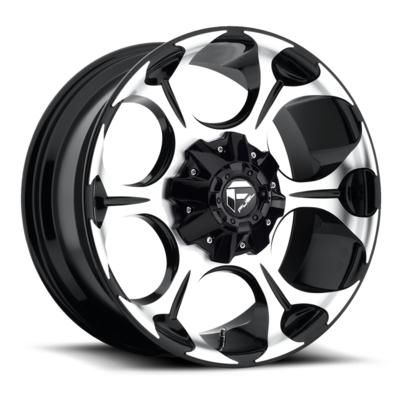 MHT Fuel Offroad Dune D524 Machined Black Wheels