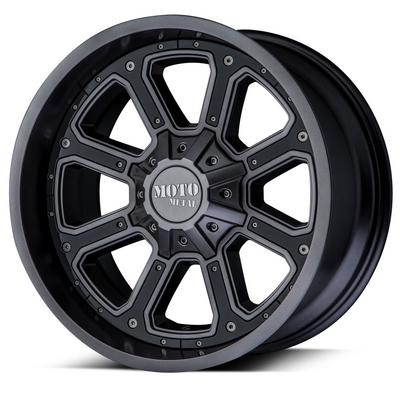 Moto Metal MO984 Matte Gray with Gloss Black Inserts Wheels