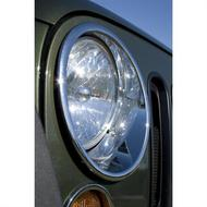 Rugged Ridge Chromed Headlight Trim rings