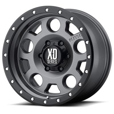 KMC XD Series XD126 Enduro Pro Matte Gray W/ Black Ring Wheels