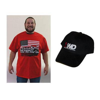 4WD One Nation T Shirt and Hat Bundle APPSHM
