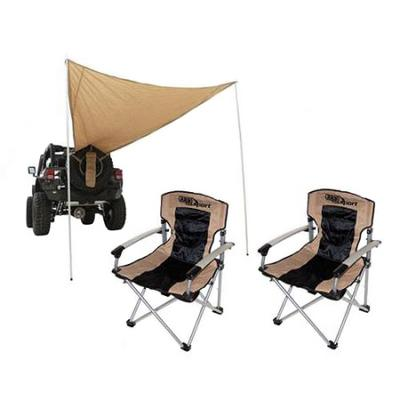 4WD ARB Camping Chairs and Smittybilt Trail Shade PAK - CAMPPKG3 CAMPPKG3