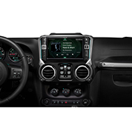 "Alpine 9"" Weather-Resistant Mech-Less Restyle Dash System with Apple CarPlay and Android Auto for Wrangler JK - I209-WRA"