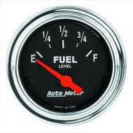 Auto Meter Traditional Chrome Electric Fuel Level Gauge - 2517