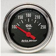 Auto Meter Traditional Chrome Electric Oil Temperature Gauge - 2542