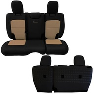 Bartact Tactical Series Rear Bench Seat Cover (Black/Khaki) - JLSC2018R2BK