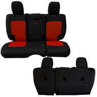 Bartact Tactical Series Rear Bench Seat Cover (Black/Orange) - JLSC2018R2BN