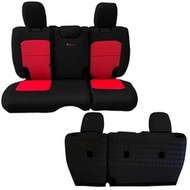 Bartact Tactical Series Rear Bench Seat Cover (Black/Red) - JLSC2018R2BR