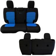Bartact Tactical Series Rear Bench Seat Cover (Black/Blue) - JLSC2018R2BU