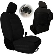 Bartact Tactical Series Front Seat Covers (Black/Black) - JLTC2018F2BB