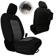 Bartact Tactical Series Front Seat Covers (Black/Graphite) - JLTC2018F2BG