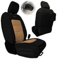 Bartact Tactical Series Front Seat Covers (Black/Khaki) - JLTC2018F2BK