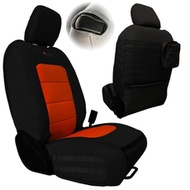 Bartact Tactical Series Front Seat Covers (Black/Orange) - JLTC2018F2BN
