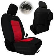 Bartact Tactical Series Front Seat Covers (Black/Red) - JLTC2018F2BR