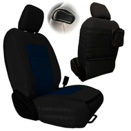 Bartact Tactical Series Front Seat Covers (Black/Navy) - JLTC2018F2BT