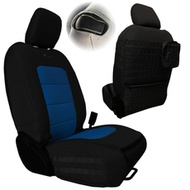 Bartact Tactical Series Front Seat Covers (Black/Blue) - JLTC2018F2BU
