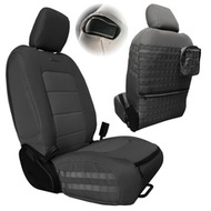 Bartact Tactical Series Front Seat Covers (Graphite/Graphite) - JLTC2018F2GG