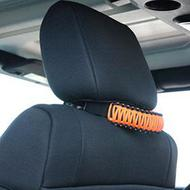 Bartact Paracord Head Rest Grab Handles (Orange) - TAOGHHPBN
