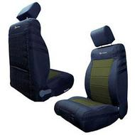 Bartact Front Seat Cover (Black/Olive) - JKSC2013FPBO