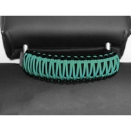Bartact Paracord Head Rest Grab Handle (Black/Bikini Pearl Teal) - TAOGHHPB5