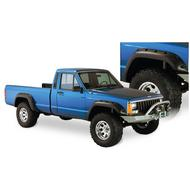 Bushwacker Cut-Out Style XJ Cherokee Fender Flare Set (Paintable) - 10912-07
