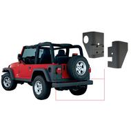 Bushwacker Trail Armor Rear Corners (Black Plastic) - 14004