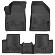 Husky Liners WeatherBeater Front and Rear Floor Liners (Black) - 99091