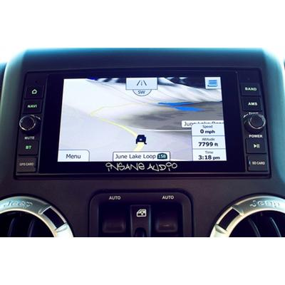 Insane Audio Jeep In-Dash Navigation and Multimedia Entertainment System - JK2001