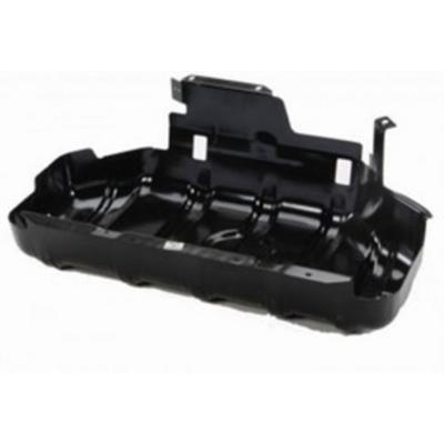 Image of Jeep Factory Gas Tank Skid Plate (Black) - 52100219AB