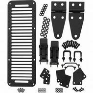 Kentrol Hood Set with TJ Style Hood Catches (Black) - 50570