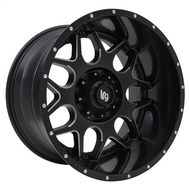 LRG Rims Splits Series 104, 20x12 Wheel with 8 on 170 Bolt Pattern - Black and Milled - 10421270944N