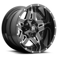 MHT Fuel Offroad Full Blown, 22x14 Wheel with 5 on 135 and 5 on 5 Bolt Pattern - Black Milled - D25422400547