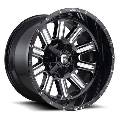 MHT Fuel Offroad Hardline D620, 20x10 Wheel with 8 on 170 Bolt Pattern - Gloss Black Milled - D62020001747