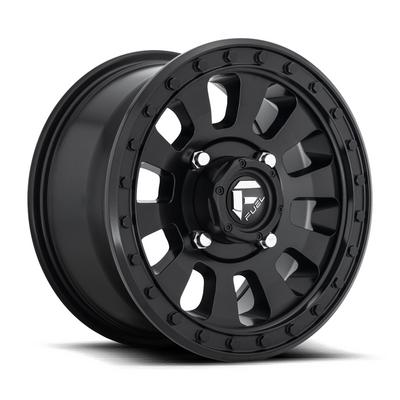 MHT Fuel Off-Road Tactic D630 Wheel, 15x7 with 4 on 156 Bolt Pattern - Black - D6301570A554